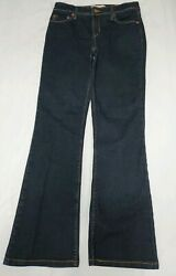 Levis Strauss Signature Womens At Waist Bootcut Dark Wash Jeans Size 4 Short $19.91