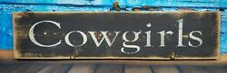 COWGIRL Rustic Wood Sign Cowgirl Cowboy Western Decor 5x23quot; $14.99