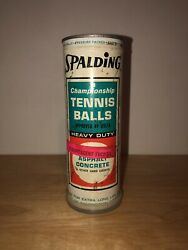 Vintage Spalding Championship Tennis Balls Heavy Duty Sealed Can Metal Can w Key $69.99