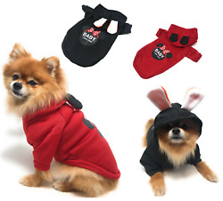 Hoodie Print Pet Dog Clothes Winter Warm Dog Coat Jacket for Small Dogs Cats $7.99