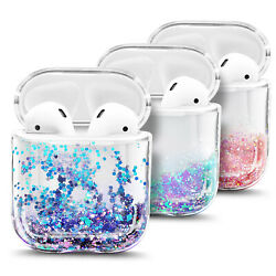 For Apple AirPods AirPods Pro Case Cute Liquid Glitter Cover Keychain Clip $9.99