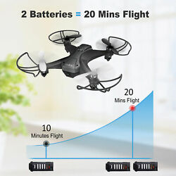 Tech RC Drones Mini FPV Quadcopter 2.4G Camera Indoor Gift Toys 20 Mins Flying $39.99
