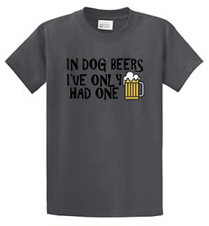 Dog Beers Mens Funny Printed Drinking Tees Big and Tall and Regular Size $16.99