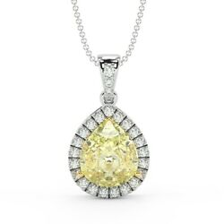 Special Bargain - Pear Shape Halo Diamond Pendant 18K Heavy Gold Exclusive