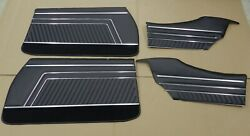 1970 GTO LeMans Coupe PUI Assembled Interior Door Panel Set Black (IN STOCK) $460.75
