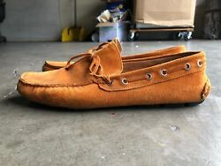 Barneys New York Suede Driving Moccasin Loafers sz 11 Orange $30.00