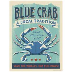 Blue Crab Served Decal Peel and Stick Decor $11.99