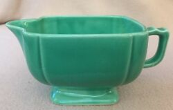 VINTAGE HOMER LAUGHLIN RIVIERA CREAMER GREEN $21.99