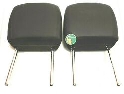 PAIR Jeep Wrangler Unlimited Sahara Center Front Headrests Head Rests Left Right $176.00