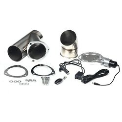 4quot; Stainless Electric Exhaust Cutout Out Remote Control Cut Pipe Exhaust System $101.89