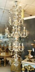 5 Tier Crystal Silver Rear Drop Traditional Empire Chandelier Dining Room Foyer