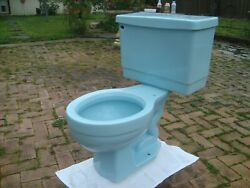 Vintage Retro Universal Rundle Sears. Powder Blue Toilet