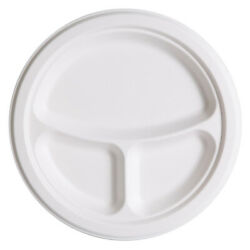 Eco Products 3 Compartment Compostable Sugarcane Plates 500 ct. case $106.12