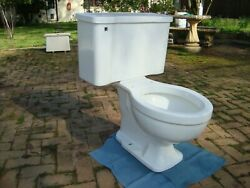 Vintage Briggs 6571 White C Briggs Toilet: Dated 1963
