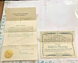 Before & After 1941 Divorce Decree1942 Marriage Certificate