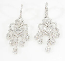 18K Diamond Chandelier Earrings White Gold