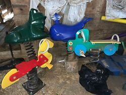 4 Spring Rider Playground Components. Frog Whale Horse & Truck.19555?delivery
