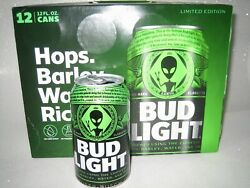 BUD LIGHT GREEN ALIEN AREA 51 CAN LIMITED EDITION EMPTY EARTH CAN $7.99