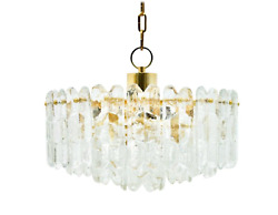 Kalmar Chandelier Palazzo Gilt Brass and Glass Austria 1970s Leuchter Lampe