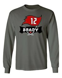 Tom Brady Tampa Bay Buccaneers Bucs TB12 Men#x27;s Long Sleeve T Shirt $15.49