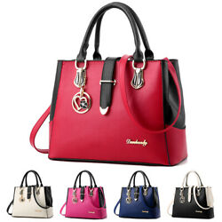 Women PU Leather Handbag Shoulder Messenger Satchel Tote Purse Crossbody Bag $19.90