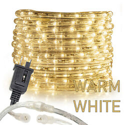 Warm White Thick LED Rope Light Accent Indoor Outdoor 10202550100150FT $21.95