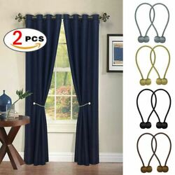 2PCS Ball Magnetic Curtain Buckle Holder Tieback Clips Home Window Accessories $6.99