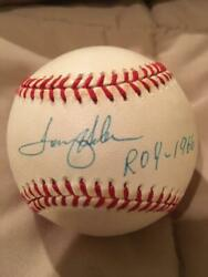 Autographed Tommy Helms NL Official Baseball Cincinnati Reds Inscribed ROY-1966