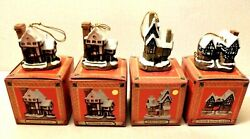 4 David Winter Cottages Christmas Ornaments Tudor Fred Home amp; 2 Suffolk Houses $16.99