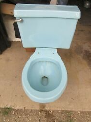 Vintage Eljer Babylight Blue Toilet Working Condition Good Condition