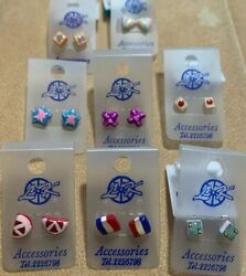 Novelty Kids Metal Free Earrings Lot of 8 $6.49