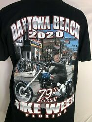 Trump Bike Week Daytona Beach 2020 79th Annual Biker Motorcycle T Shirt $15.99