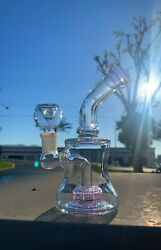 Hookah Water Pipe Glass 6quot; Glass Shower Bend Blue Tobacco Bong Fast Shipping $23.99