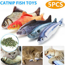 5 Pack Realistic Interactive Fish Cat Kicker Crazy Pet Toy Catnip Toys Gift $6.79