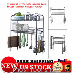 Stainless Steel Over Sink Rack Kitchen Holder Shelf Dish Cutlery Drying Drainer $35.17