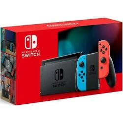 2020 Nintendo Switch with Neon Blue and Neon Red Joy‑Con 32GB Newest Model $398.95