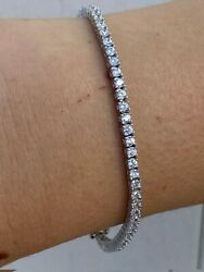 Real 925 Sterling Silver 2mm Tennis Bracelet Diamond 6 8.5quot; Mens Or Ladies Iced $44.98