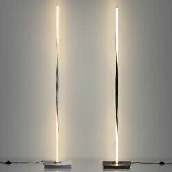 "48"" Tall Helix Floor Lamp Metal Modern Stand LED Light Reading Décor Foot Switch $62.75"