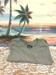 Converse All Star Mens Short Sleeve T Shirt Gray Solid Large Basic Tee Crew Neck $7.15