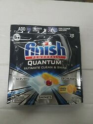 e Finish Powerball Quantum Dishwasher Tabs with pods Lemon 20 ct free shipping $13.99