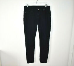 Genetic Jeans Skinny Womens 30 in. The Shane Stretch Abyss Dark Wash $12.95