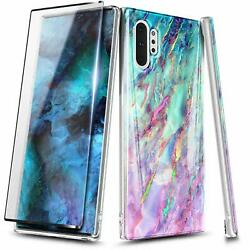 For Samsung Galaxy Note 10  Note 10 Plus Marble Case Cover + Screen Protector $7.95