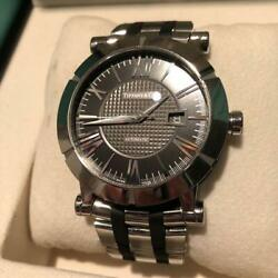 TIFFANY amp; CO ATLAS MEN#x27;S ANALOG WRIST WATCH AUTOMATIC WINDING GENUINE USED F S $2349.00