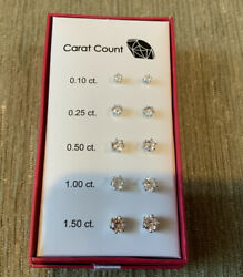 CZ Carat Count Set of 5 Pairs of Earrings by AVON. D35 $11.99