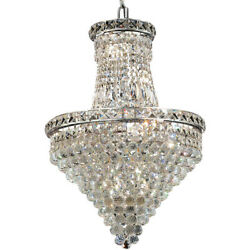 Elegant Lighting 2527D18CSS Tranquil Mini Chandelier Chrome
