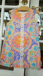 Lilly Pulitzer Girls Shift Dress Written in the Sun Size 6 32021 $39.90