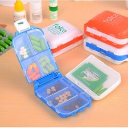 Medicine Storage Organizer Container Case Weekly 7 Day Tablet Pill Box Holder  $6.89