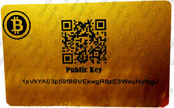 NewEraCrypto BITCOIN  BTC Cryptocurrency Storage Wallet Cards  Gift $3.00