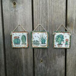 Boho room decor Cactus Green nursery Succulent Wood sign Rustic room wall decor $28.00