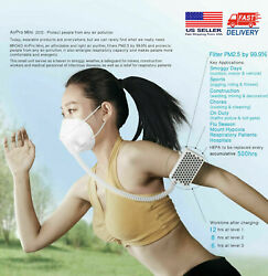 [NEW PACKING]BROAD AirPro Electrical Air Purifying RespiratorReuseable2 Masks $20.66
